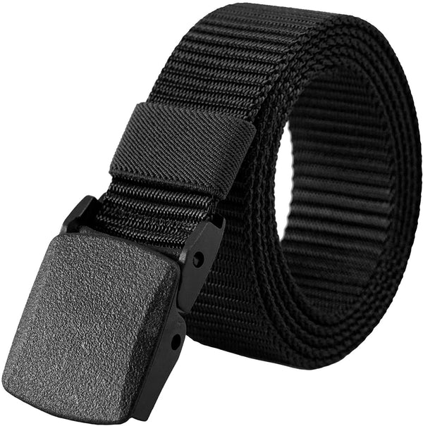 CNHUALAI Belt Mens Nylon Web No Metal Nickel Tactical Breathable Military Waist Belt With Plastic Buckle