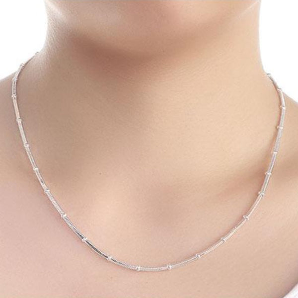 Women's Sterling Silver Snake Chain Necklace