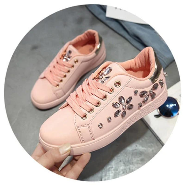 Women's Rhinestone Embellished Casual Tennis Shoe