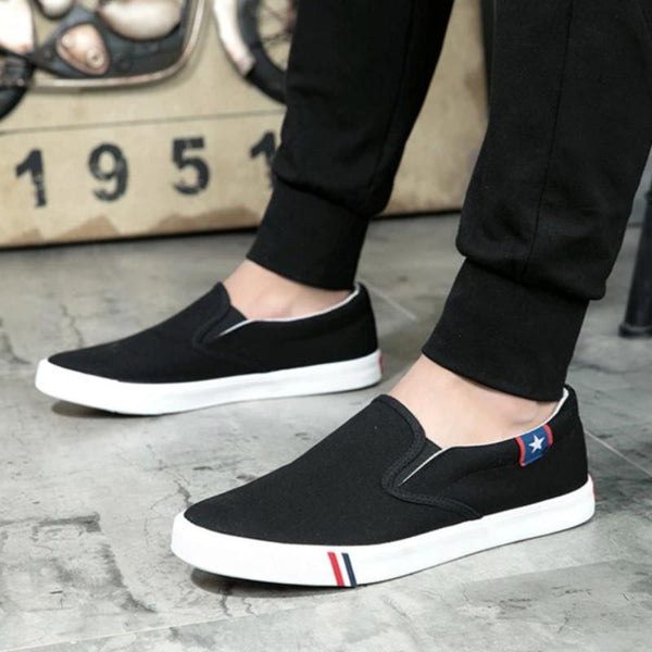 Men's Canvas Casual Slip-On Sneakers