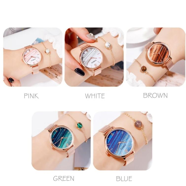 Women's 2 PCS Watercolor Watch and Bracelet Set