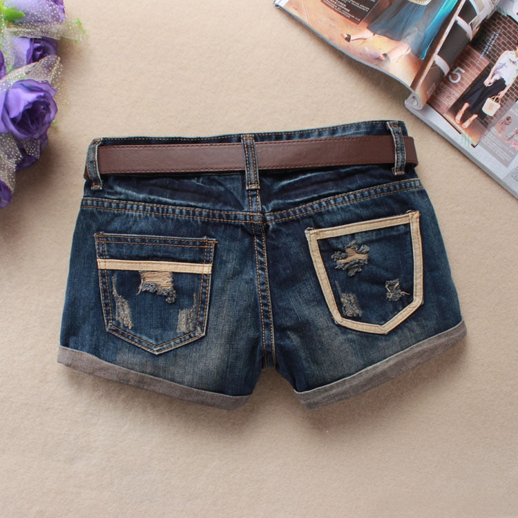 Women's Denim Jean Mini Shorts