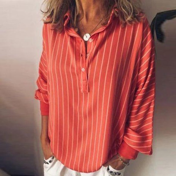 Women's Loose Striped Blouse