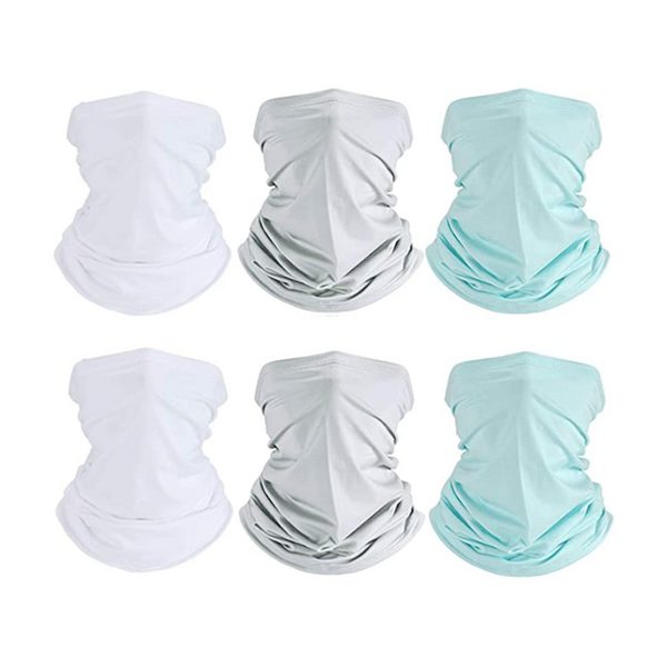 6 Pack Unisex Face Mask Neck Gaiter