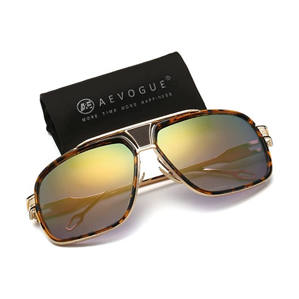 Men's Large Metal Alloy Frame Sunglasses