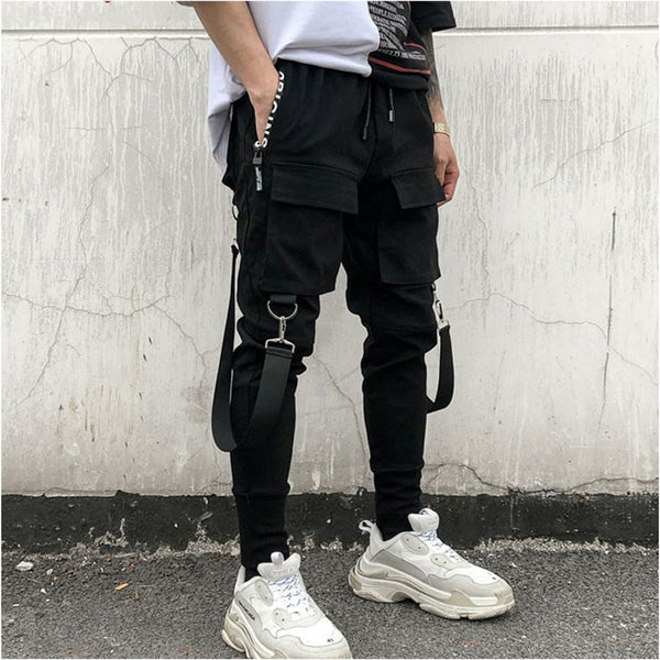 Men's Side Pocket Hip Hop Pencil Pants
