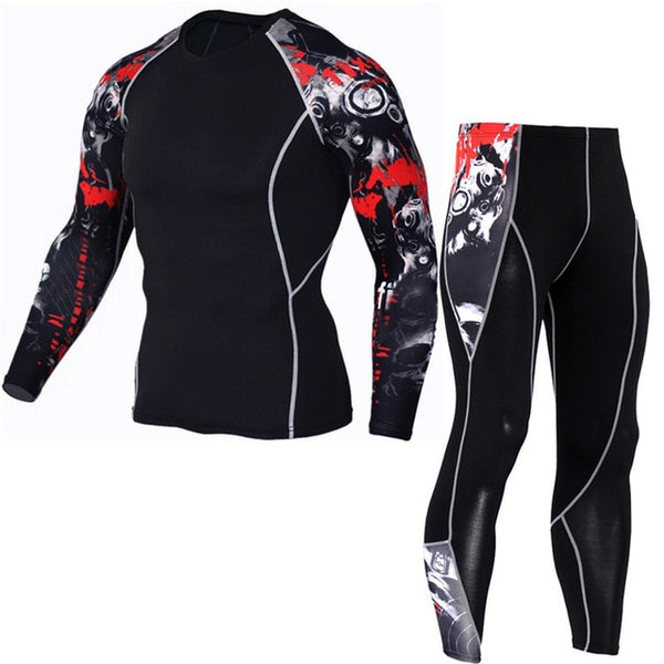 Men's Running Sports Compression Jogging Workout Suit