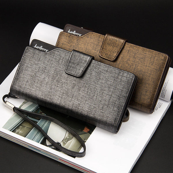 Men's Long Zipper Wallet Clutch