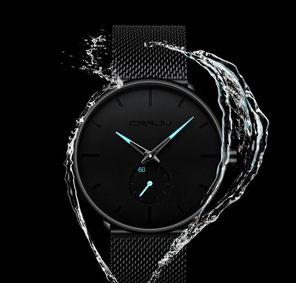 Men's Steel Mesh Waterproof Sports Watch