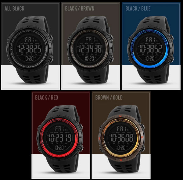 Men's LED Digital Multifunction Sports Watch