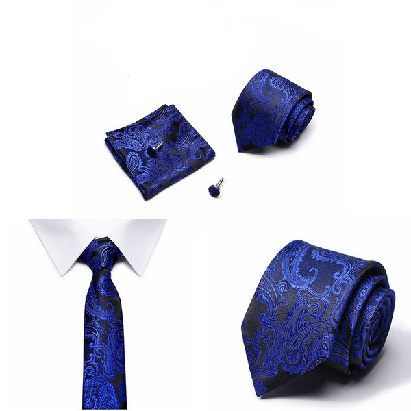 Men's Business Dress Tie & Cufflink Set