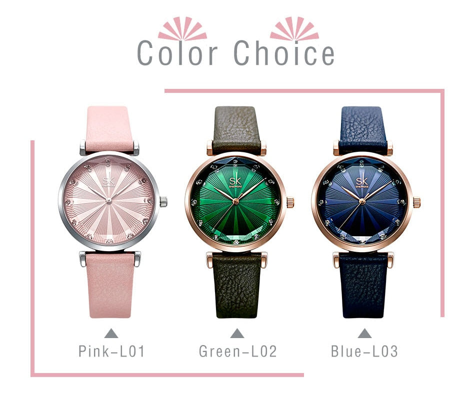 Women's Luxury Leather Band Watch