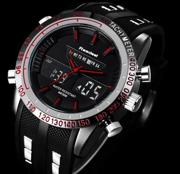 Men's Luxury Waterproof LED Quartz Military Style Watch