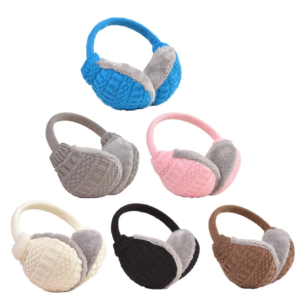 Women's Ear Cover Warm Knitted Plush Earmuffs