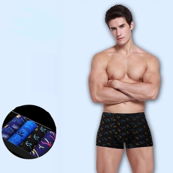 Men's Soft 4 Piece Set Boxer Underwear