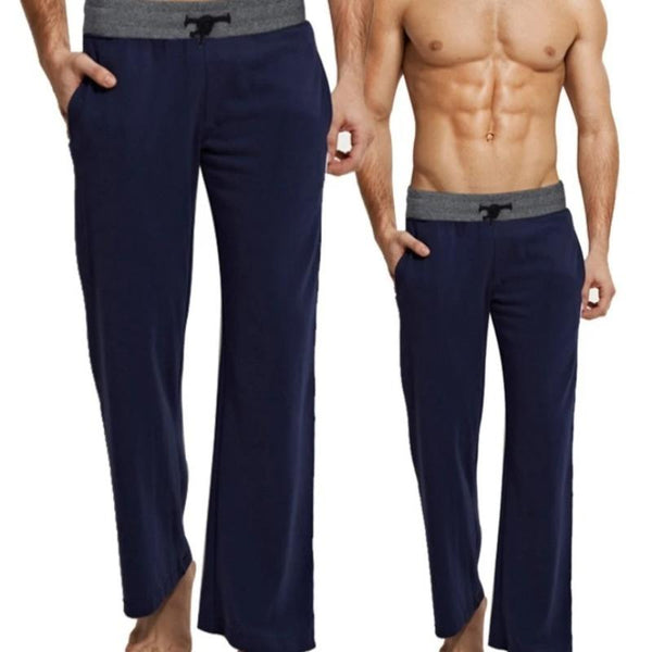 Men's Cotton Drawstring Lounge Sleepwear Pajama Pants