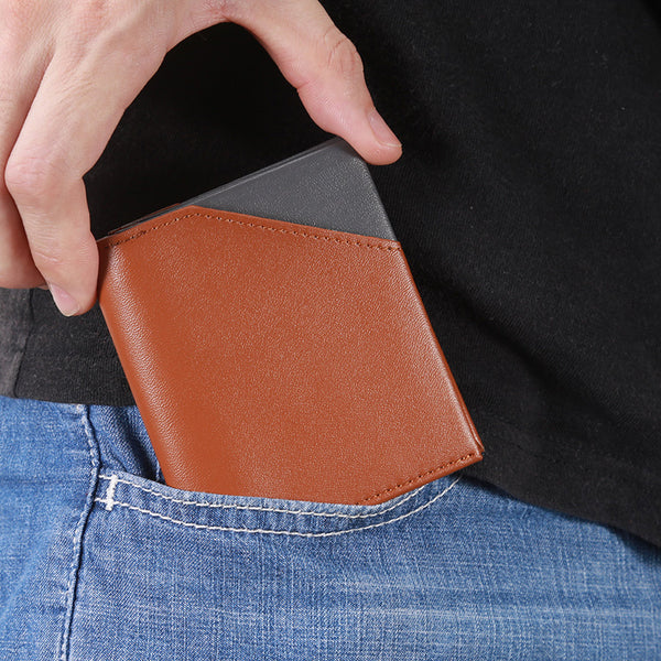 Men's RFID Ultra-Thin Leather Bifold Wallet