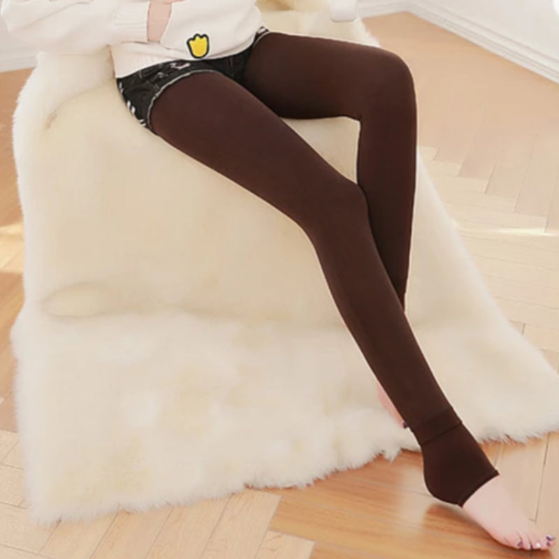 Women's Autumn Winter Plus Size Thick Velvet Lined Leggings