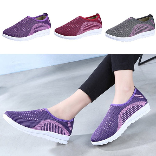 Women's Mesh Flat Casual Walking Shoes