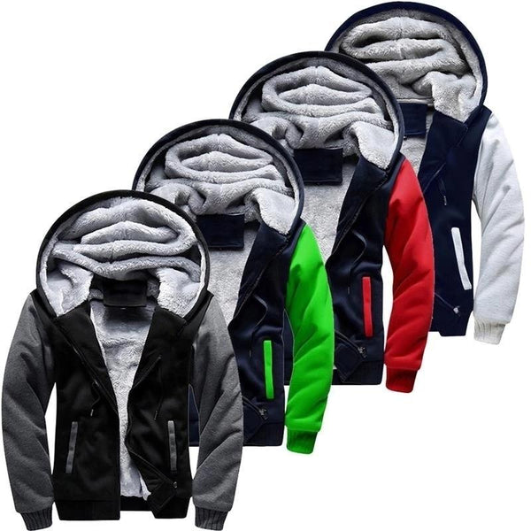 Men's Warm Fleece Thick Hooded Parka