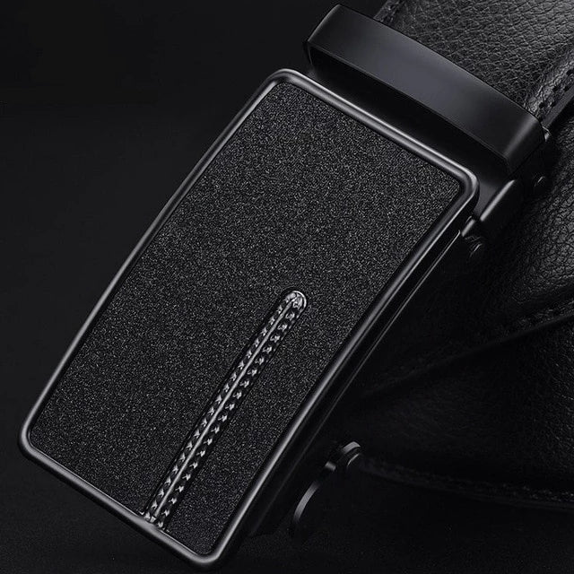 Men's Leather Automatic Buckle Belt