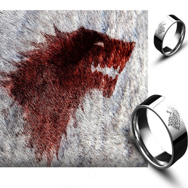 Stainless Steel Game of Thrones Laser Engraved Ring
