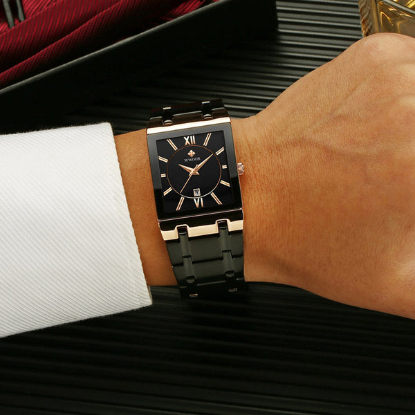 Men's Square Quartz Dress Watch