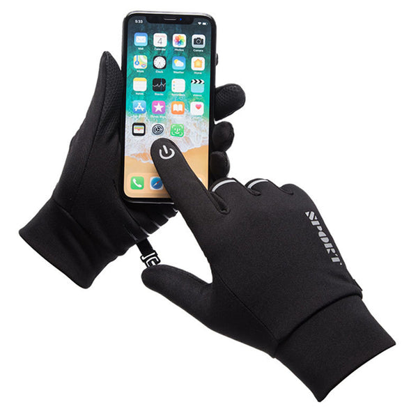 Men's or Women's Reflective Touch Screen Waterproof Riding Gloves