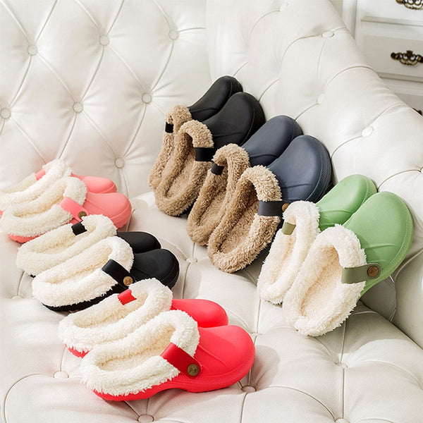 Women's Clog House Slippers with Warm Fur Lining