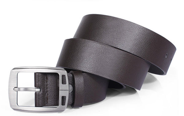 Men's High-Quality Silver Buckle Belt
