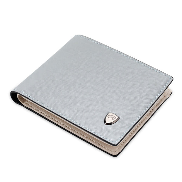 Gray Men's Leather Open Multi Card Position Wallet