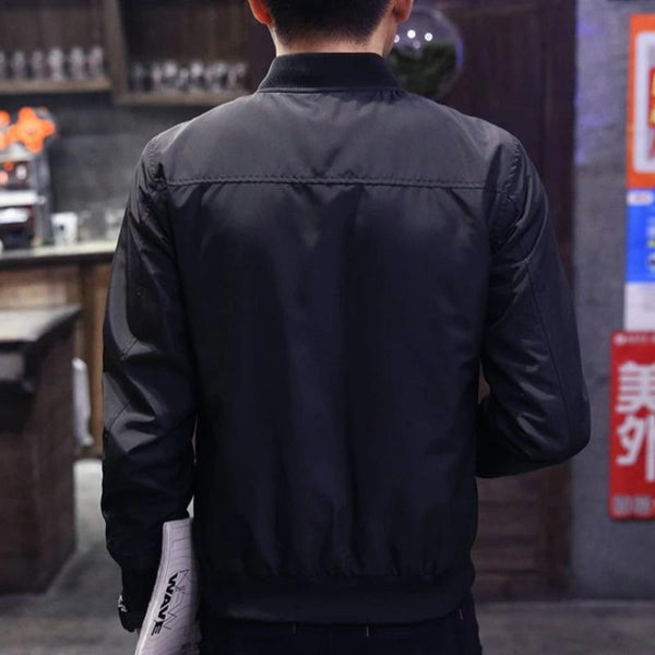 Men's Bomber Jacket Baseball Coat