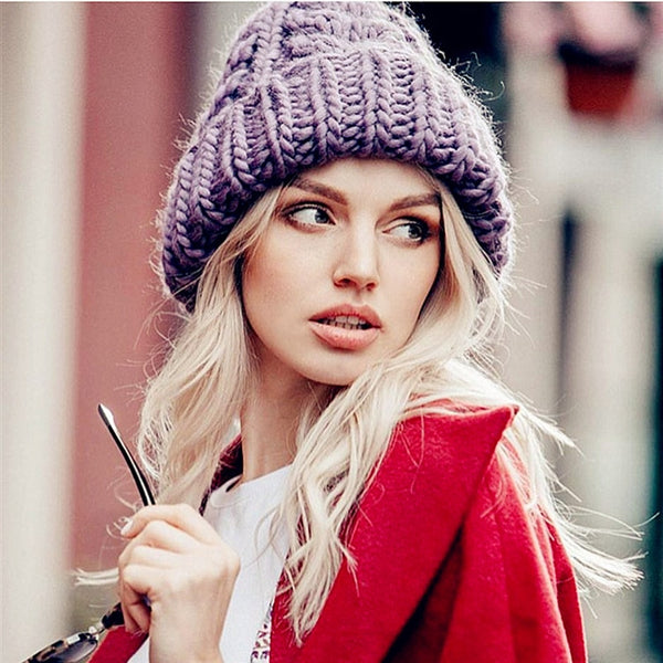 Women's Thick Warm Knit Beanie