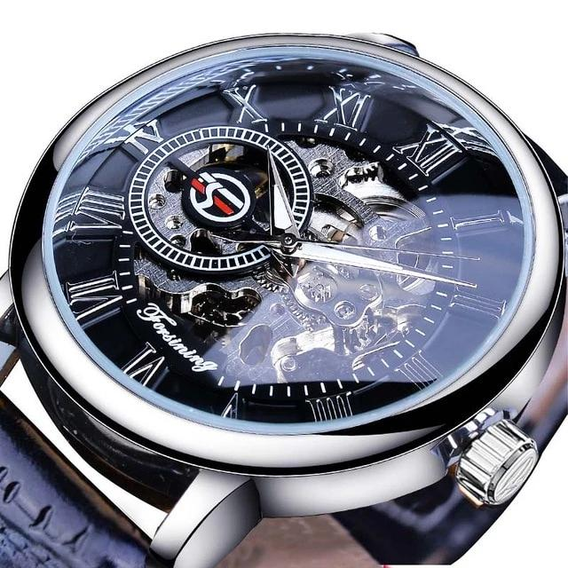 Designer Hollow Skeleton Mechanical Watches