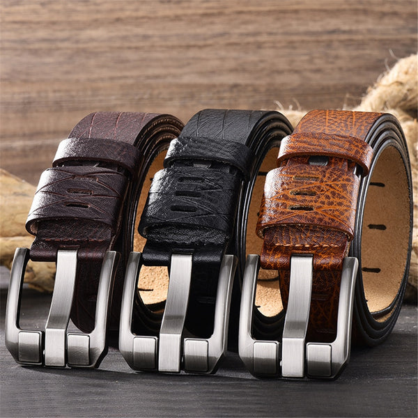 Men's Genuine Leather Trouser Belt
