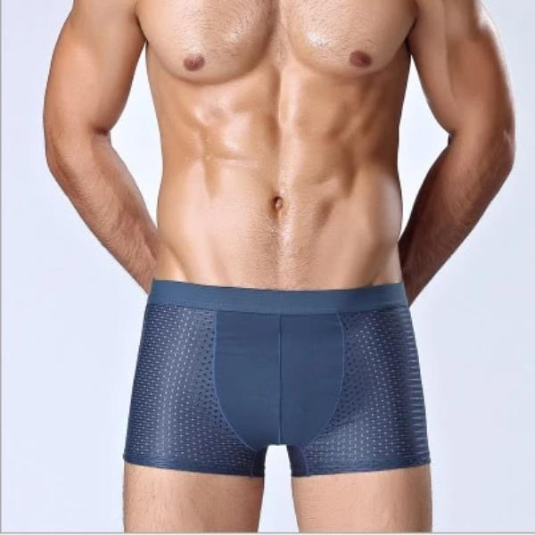4pcs Men's Bamboo Fiber Boxer Underpants