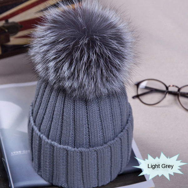 Women's Pom Pom Beanie Warm Knitted Hat
