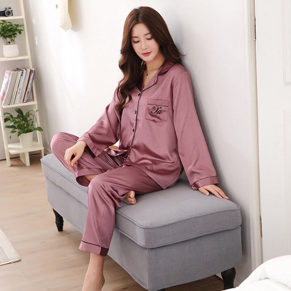 Women's Luxury Satin Pajama Set Sleepwear