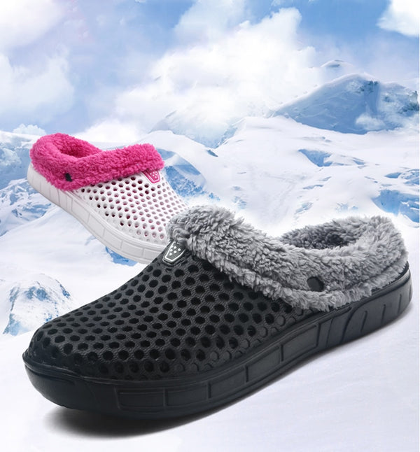 Men's Warm Fuzzy Slip-On Slippers