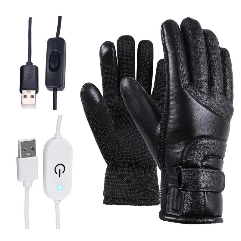Men's Electric Heated Windproof Motorcycle Gloves