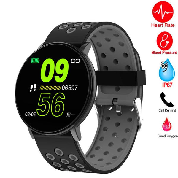 Men's Round Waterproof Blood Pressure Smartwatch
