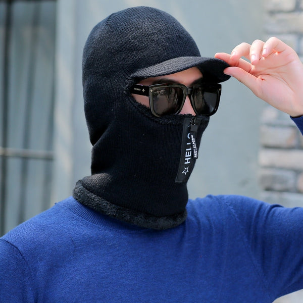 Men's Winter Knitted Balaclava Cap Ninja Mask Hat
