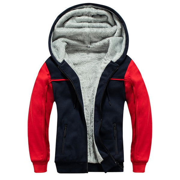 Men's Fleece Lined Hooded Warm Sweatshirts