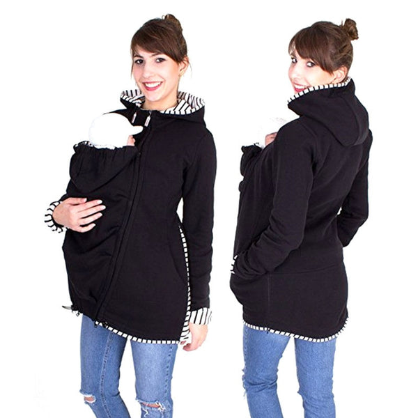 Women's Baby Kangaroo Carrier Hoodie Jacket
