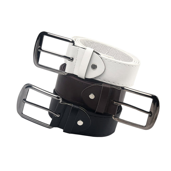 Men's High Quality Silver Buckles Belt