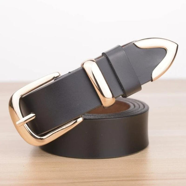 Women's Designer Cowskin Leather Belt