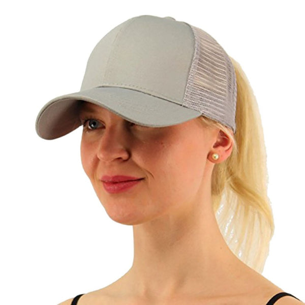 Women's Cotton Adjustable Ponytail Hat