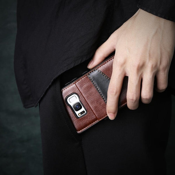 Leather Wallet Phone Case for Android and iOS Brands