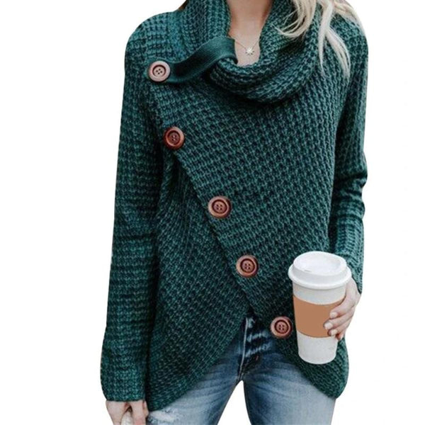Women's Fall Knit Patchwork Sweater