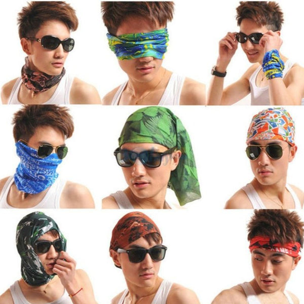 Unisex Tube Scarf Riding Bandana Face Mask